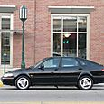 1997 Saab 900 S Side Shot in Front of Bldg Lamp Post