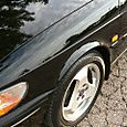 1997 Saab 900 S Fender Wheel Cracked Ground Shot