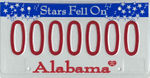 Alabama license plate stars